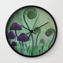 Fiddleheads Wall Clock