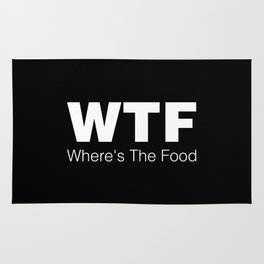 WTF - Where's The Food Rug