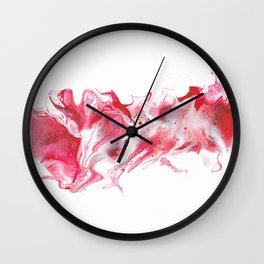 January's Fluid Birthstone on White Wall Clock
