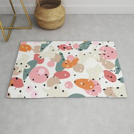 colorful shapes and figures Rug