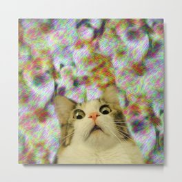 I Don't Think That Was Catnip Metal Print