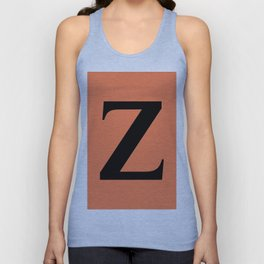 Z MONOGRAM (BLACK & CORAL) Unisex Tank Top