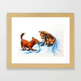 Fox kids Framed Art Print