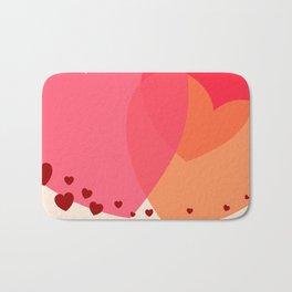 Heart love Bath Mat