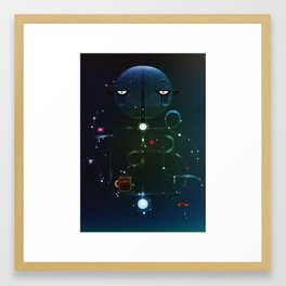 Self Portrait: Raid Boss, Coffee and Constellations Framed Art Print