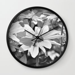 Flower black and white 0148 Wall Clock