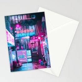 SEOUL NEON LIGHTS Stationery Cards