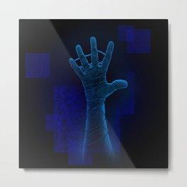 Reach blue dark Metal Print