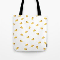 pie Tote Bags featuring pie by Winnie draws