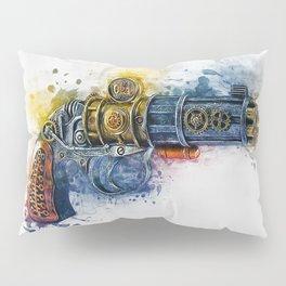 Steampunk Gun Pillow Sham