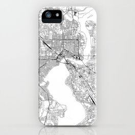 Jacksonville White Map iPhone Case