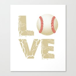 Baseball T-Shirt For Brother. Canvas Print