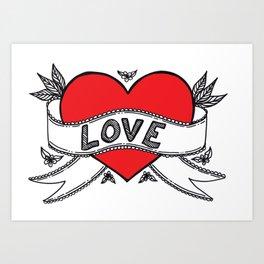 Declare your love! Art Print
