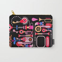Music abstract art graphic design Carry-All Pouch