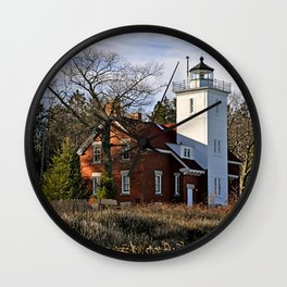 40 Mile Point Lighthouse Wall Clock