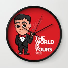 Scarface The World Is Yours Wall Clock