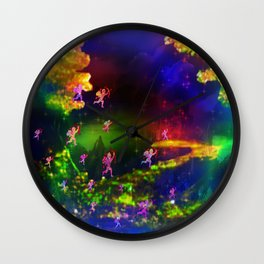 """Cupids Assault"" by surrealpete Wall Clock"