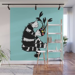 Weird Cat Character With Strange Paw Wall Mural