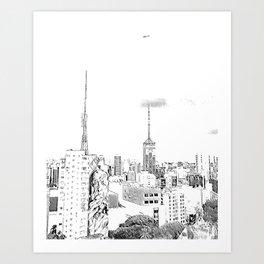 Sao Paulo - Art Art Print