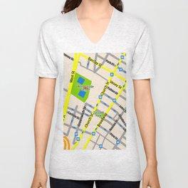 NEW YORK map design Unisex V-Neck