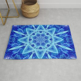 Ice Matrix Mandala Rug