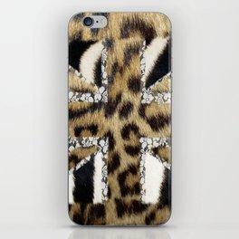 Wild | Hipster leopard Print Zebra UK Union Jack Flag  iPhone Skin