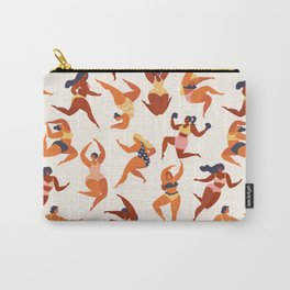 Body Positive. Women in summer swimsuits Carry-All Pouch