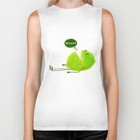 lime green Biker Tanks featuring Lime by Lime