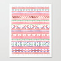 mexican Canvas Prints featuring Mexican Blanket by Sian Keegan
