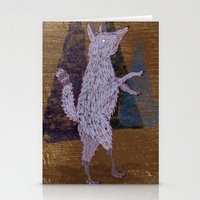 coyote Stationery Cards featuring COYOTE by Kevin Whipple