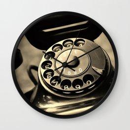 Vintage telephone Wall Clock