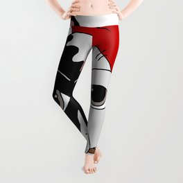 The Artist - bouledogue français Leggings