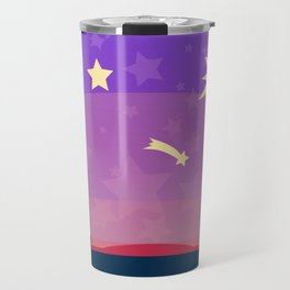 Starry sunset seen by cats Travel Mug