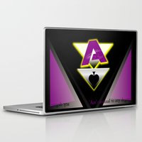 asexual Laptop & iPad Skins featuring Ace by drQuill