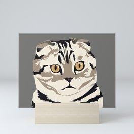 Scottish Fold Kitty Cat Mini Art Print