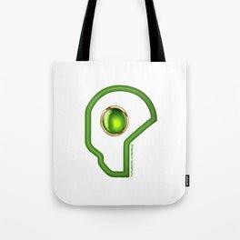 Futuristic Cyborg Logo 3 Tote Bag