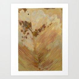 Peach Leaf Art Print