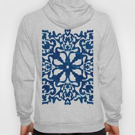 Portuguese inspired tile art in blue hues Hoody