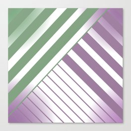 Green and Violet Stripes Canvas Print