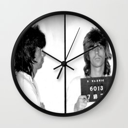 KeithRichards Mugshot Wall Clock