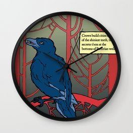 Crow habits. Wall Clock