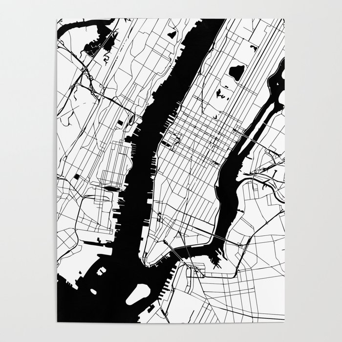 New York City Minimal Map Poster By Mapmaker Society6