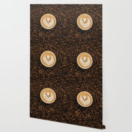 Coffee Beans & Coffee Cup Wallpaper