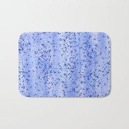 Blue Spray and Flecks Bath Mat