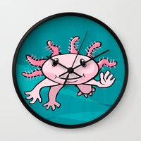 forever young Wall Clocks featuring Forever Young by Janusz Kali Kaliszczak