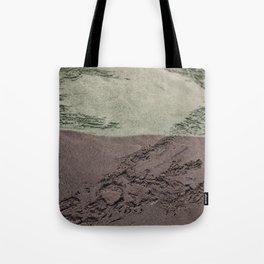 Sea Green Waves on Concrete Tote Bag