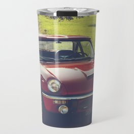 Triumph Spitfire, classic British sportscar, English Auto fine art print, old car Travel Mug