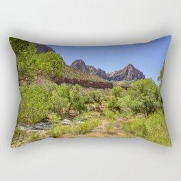 The Watchman 4739 - Zion National Park, Utah Rectangular Pillow