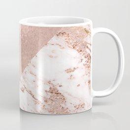 Pastel pink warm rose marble Coffee Mug