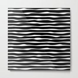 Black White Neutral Duo Metal Print